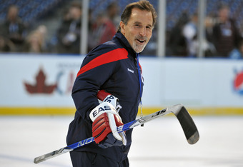 PHILADELPHIA, PA - JANUARY 1: John Tortorella of the New York Rangers looks on during practice for the 2012 Bridgestone NHL Winter Classic at Citizens Bank Park on January 1, 2012 in Philadelphia, Pennsylvania. (Photo by Christopher Pasatieri/Getty Images