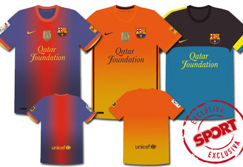 Home, Away, and training shirt for 2012-13