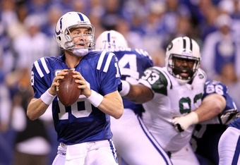 It doesn't matter if it is Peyton Manning or Andrew Luck.  The Colts will not be in Super Bowl XLVII.