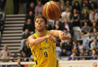 MELBOURNE, AUSTRALIA - SEPTEMBER 07:  Matthew Dellavedova of Australia in action during the first match between the Australian Boomers and the New Zealand Tall Blacks at State Netball Hockey Centre on September 7, 2011 in Melbourne, Australia.  (Photo by
