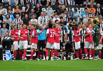 Gervinho on his Arsenal debut getting sent off