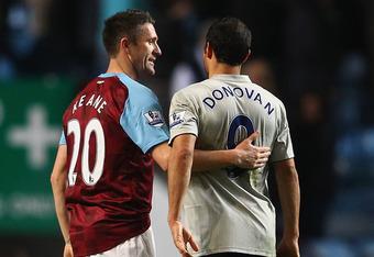 Enemies...for now: Landon Donovan and Robbie Keane.