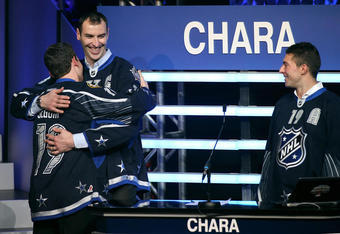 "Chara and Seguin ""Hug It Out"""