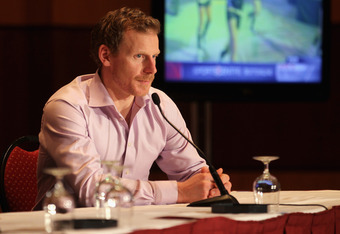 OTTAWA, ON - JANUARY 26:  Daniel Alfredsson of the Ottawa Senators answers quaestions from the media during a media availabilty prior to the 2012 NHL All-Star Game Fantasy Draft at Hilton Lac Leamy on January 26, 2012 in Ottawa, Canada.  (Photo by Bruce B
