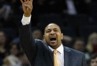 CHARLOTTE, NC - JANUARY 14:  Head coach Mark Jackson of the Golden State Warriors yells to his team during their game against the Charlotte Bobcats at Time Warner Cable Arena on January 14, 2012 in Charlotte, North Carolina.  NOTE TO USER: User expressly