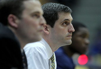MOREHEAD, KY - JANUARY 18:  Steve Prohm the head coach of the Murray State Racers watches the action during the OVC game against the Morehead State Eagles at Johnson Arena on January 18, 2012 in Morehead, Kentucky.  (Photo by Andy Lyons/Getty Images)