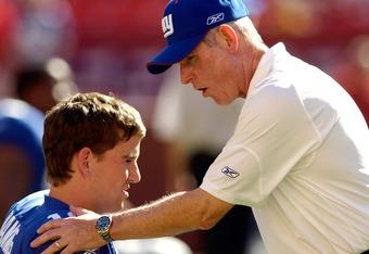 Coaching him up.