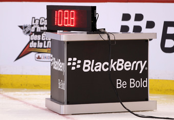 OTTAWA, ON - JANUARY 28:  The result board reads 108.8 MPH after Zdeno Chara #33 of the Boston Bruins and Team Chara broke the record in the Blackberry NHL Hardest Shot part of the 2012 Molson Canadian NHL All-Star Skills Competition at Scotiabank Place o