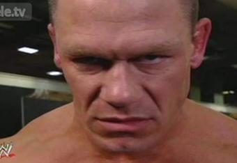 Cena's face after the 01/23/12 episode of Monday Night Raw