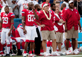 HONOLULU - JANUARY 30:  Bill Belichick Head Coach of the American Football Conference team on the sidelines during the 2011 NFL Pro Bowl against the National Football Conference (NFC) at Aloha Stadium on January 30, 2011 in Honolulu, Hawaii.  (Photo by Ke