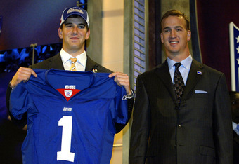 Peyton with Eli at the 2004 NFL Draft