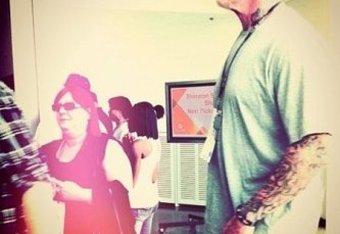 The infamous bald Undertaker photo.