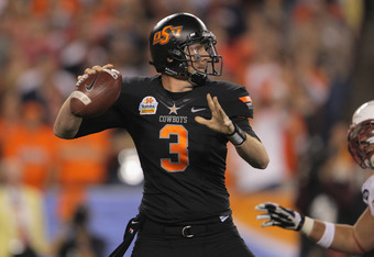 Oklahoma State's Brandon Weeden was the best QB at the Senior Bowl.