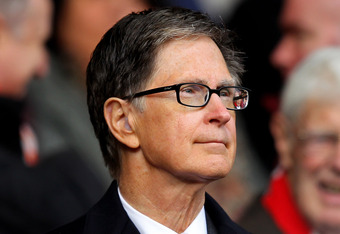 LIVERPOOL, ENGLAND - JANUARY 28:  Liverpool owner John W Henry looks on during the FA Cup Fourth Round match between Liverpool and Manchester United at Anfield on January 28, 2012 in Liverpool, England. (Photo by Alex Livesey/Getty Images)