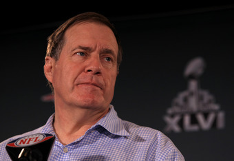Bill Belichick kept his coin-toss strategy under wraps, making no mention of it whatsoever.