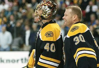 Tuukka Rask and Tim Thomas