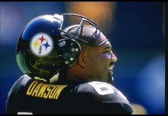 3 Sep 1995: Dermontti Dawson of the Pittsburgh Steelers during the Steelers 23-20 win over the Detroit Lions at Three Rivers Stadium in Pittsburgh, Pennsylvania.