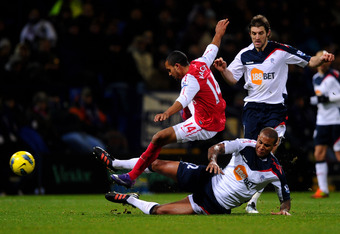At the moment, Walcott falls more than flies