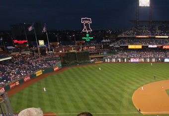 PHILADELPHIA - SEPTEMBER 21: Fans sit and watch during a game between the Washington Nationals and the Philadelphia Phillies at Citizens Bank Park on September 21, 2011 in Philadelphia, Pennsylvania. The Nationals won 7-5. (Photo by Hunter Martin/Getty Im