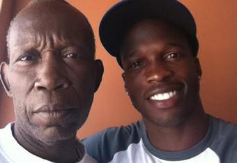 Chad Ochocinco with his father on Fathers Day 2011