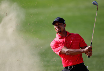 ABU DHABI, UNITED ARAB EMIRATES - JANUARY 29:  Tiger Woods of the USA during the final round of Abu Dhabi HSBC Golf Championship at the Abu Dhabi HSBC Golf Championship on January 29, 2012 in Abu Dhabi, United Arab Emirates.  (Photo by Ross Kinnaird/Getty