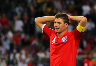 Steven Gerrard was England's captain at the 2010 World Cup