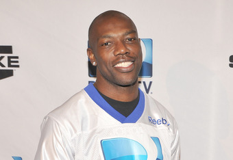 INDIANAPOLIS, IN - FEBRUARY 04:  Professional football player Terrell Owens attends DIRECTV's Sixth Annual Celebrity Beach Bowl Game at Victory Field on February 4, 2012 in Indianapolis, Indiana.  (Photo by Theo Wargo/Getty Images for DirecTV)