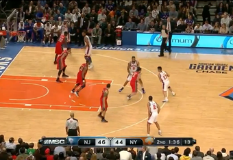 Lin up top again, with Tyson Chandler setting the pick.