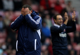 Martin O'Neill in the background has brought grief to a lot of managers since he took over Sunderland.