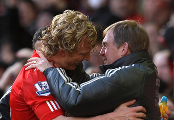 Dirk Kuyt scored a late winner against United in their FA Cup matchup two weeks ago