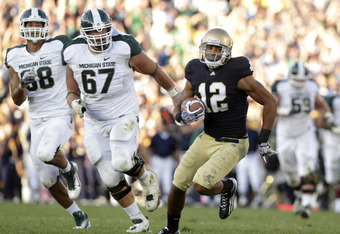 Robert Blanton's interception against Michigan State was one of only 14 takeaways for Notre Dame's defense in 2011, one of the lowest totals among BCS programs.