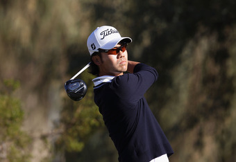 SCOTTSDALE, AZ - FEBRUARY 05:  Kevin Na hits a tee shot on the second hole during the final round of the Waste Management Phoenix Open at TPC Scottsdale on February 5, 2012 in Scottsdale, Arizona.  (Photo by Christian Petersen/Getty Images)