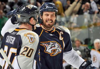 Ryan Suter and Shea Weber of the Nashville Predators