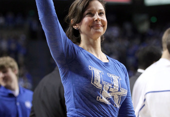 Ashley Judd attended tonight's game...and still holds Big Blue Nation's heart in the palm of her hands