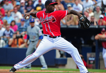 Arodys Vizcaino made 17 relief appearances for Atlanta last season.
