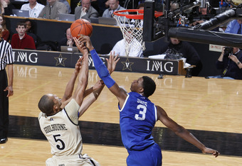 Kentucky totaled 12 blocks against Vanderbilt