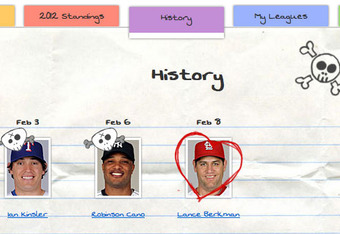 Screenshot from the Baseball Boyfriend app, baseballboyfriend.com