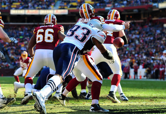 Andre Carter (93) was one of two Patriots with 10 sacks.
