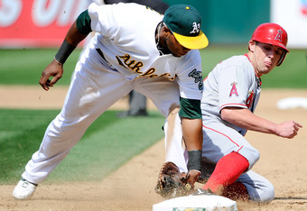 Hopefully Bourjos will be very familiar with opposing teams' first basemen.