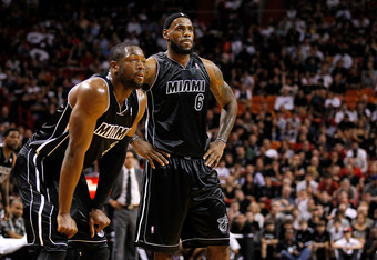Dwyane Wade and LeBron James.