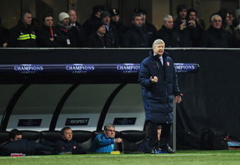 Arsene Wenger couldn't do anything to stop the Milan disaster.