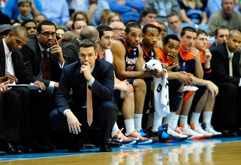 Virginia coach, Tony Bennett, is still the NCAA's reigning career leader in three-point percentage shooting.