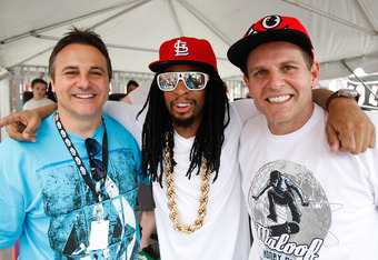 NEW YORK - JUNE 06:  Rapper Lil Jon (center) poses for a portrait with Gavin Maloof (L) and Joe Maloof (R) at the Maloof Money Cup on June 6, 2010 at Flushing Meadows Corona Park in the Flushing neighborhood of the Queens borough of New York City.  (Photo