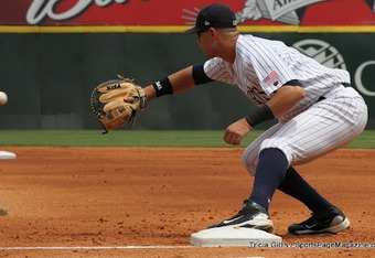 Kroeger added first base to his repertoire while at Charlotte.