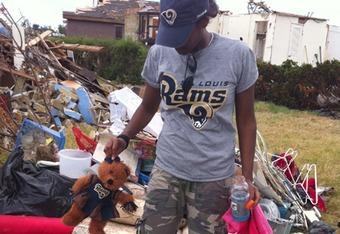 St. Louis Rams helping in tornado ravaged Joplin, MO