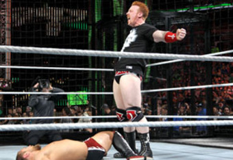 Sheamus leaves Daniel Bryan lying motionless.