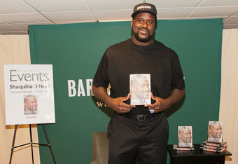 NEW YORK, NY - NOVEMBER 15:  Shaquille O'Neal promotes 'Shaq Uncut: My Untold Story' at the Barnes & Noble, 5th Avenue on November 15, 2011 in New York City.  (Photo by Slaven Vlasic/Getty Images)