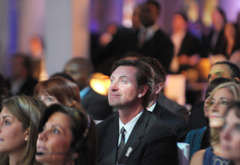 NEW YORK, NY - DECEMBER 06: Hockey great and former Sportsman of the Year Wayne Gretzky attends the 2011 Sports Illustrated Sportsman of the Year award presentation at The IAC Building on December 6, 2011 in New York City.  (Photo by Michael Loccisano/Get