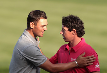 Martin Kaymer (L) aned Rory McIlroy (R) both look for their first titles at Accenture.