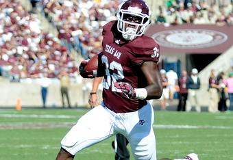 COLLEGE STATION, TX - OCTOBER 29:   Cyrus Gray #32 of the Texas A&M Aggies runs during a game against the Missouri Tigers at Kyle Field on October 29, 2011 in College Station, Texas.  (Photo by Sarah Glenn/Getty Images)